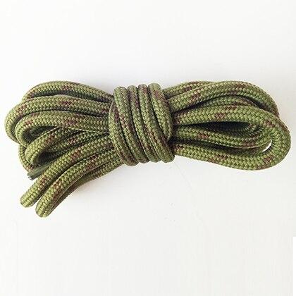 100-160 см спортивные круглые шнурки, 17 цветов, кроссовки, белые шнурки, спортивная обувь, шнурки, спортивная обувь, обувь для скейта, шнурки - Цвет: armygreen brown