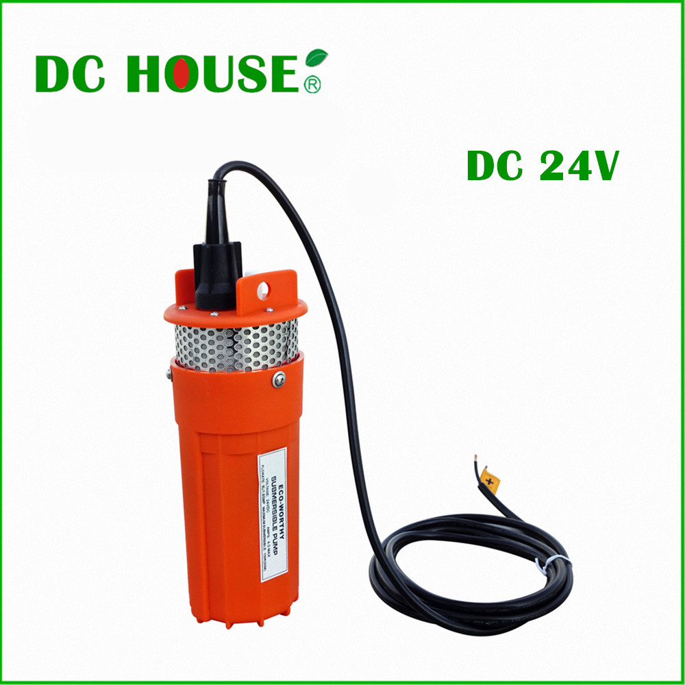 DC HOUSE DC 24V Submersible Deep Well Water Pump For Solar Power Pool Fountain Water