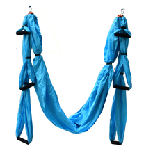 16 Colors Parachute Fabric Fitness Yoga Hammock Inversion Therapy Anti-gravity Aerial Straps Hammock with 6 Hand Grip