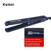 Buy Hot Kemei Profressional 45W Hair Straightener LCD Infrared Ionic Touch Screen Control PTC Heater Flat Iron Styling Tools S4243