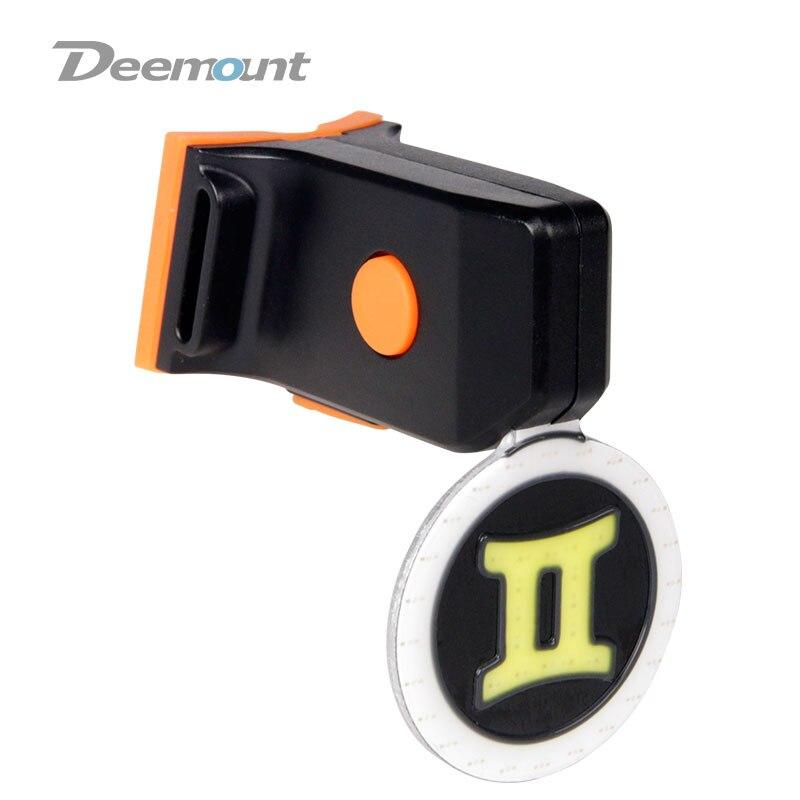 Deemount bcl211 Велосипедный Спорт Фонарь 12 Знак зодиака Вышивка Крестом Картины велосипед визуальный Предупреждение лампы USB зарядка двойной све...