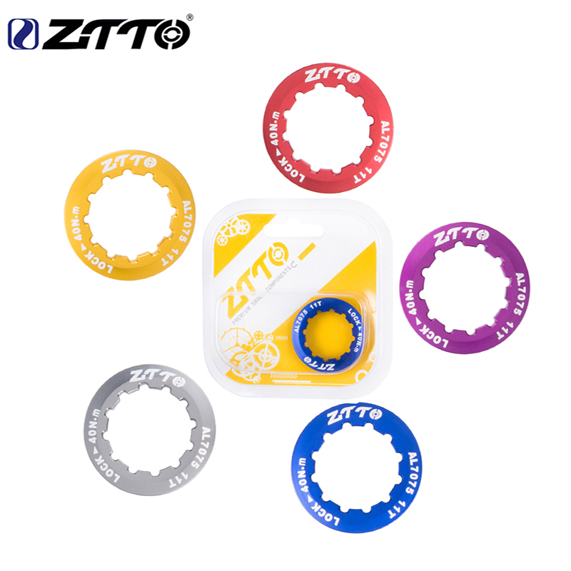 ZTTO MTB bike road bike <font><b>Cassette</b></font> cover locking cover ring ultra light 7075 for ZTTO shimano <font><b>SRAM</b></font> 9S 10S 11S 12S Bicycle parts image