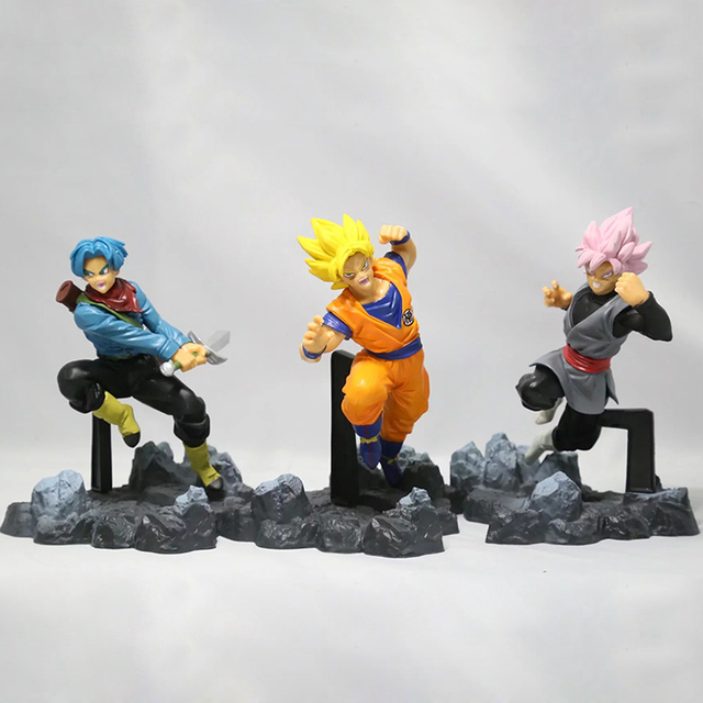 Dragon Ball Z Son Goku Son Goku Son Gohan Goten Torankusu Gotenks PVC Preto Troncos Gotenks Action Figure Toy Modelo s295