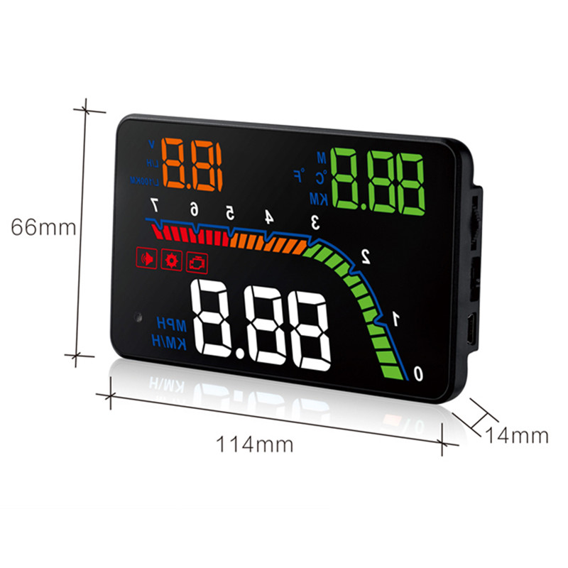 Image 4 - GEYUREN A100s T100 OBD car hud head up head up display 2019 temperature gauge obd Overspeed Warning System Projector Windshield-in Head-up Display from Automobiles & Motorcycles