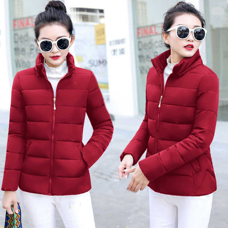 a82375c6637 New Coats & Jackets 2019 Fashion Wine Red Parka Hooded Winter Jacket Women  Winter Coat Women