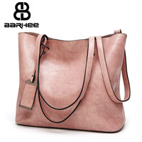 Best Special Offer New Bucket Quality Leather Women Handbags 2017 Brand Tote Bag Simple Top Handle