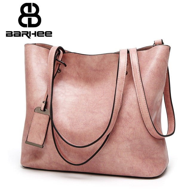 Best Special Offer New Bucket Quality Leather Women Handbags 2017 Brand Tote Bag Simple Top
