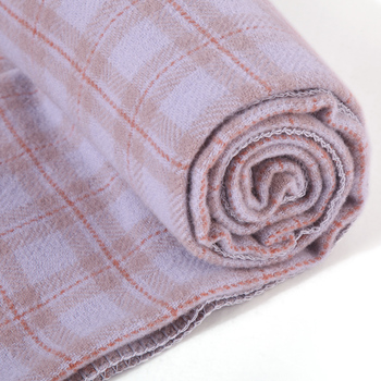Australian fine wool plaid throw blanket tassel 120cmx250cm -0.8kg