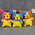 Hot sale 3Style pikachu cosplay Cosplay Gyarados Magikarp Flash plush toy pendant with sucker gift for Christmas