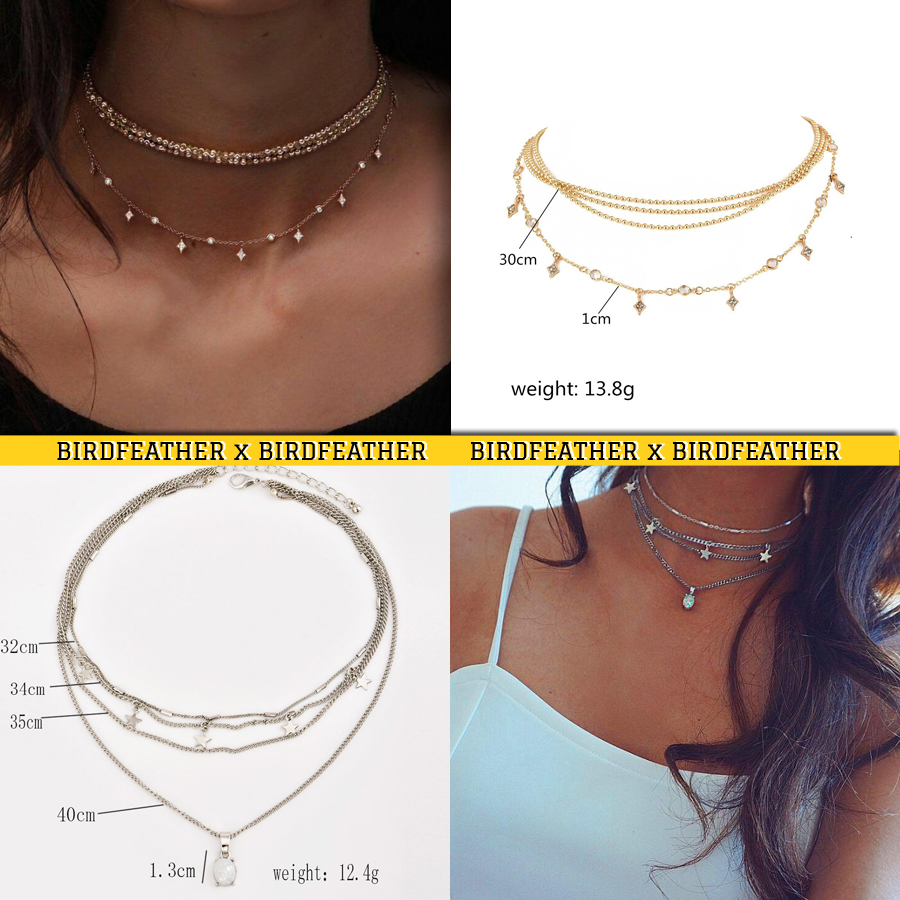 Gold color Choker Necklace for women crystal moon stars Pendant Chain Necklaces & Pendants Laces velvet chokers Fashion Jewelry