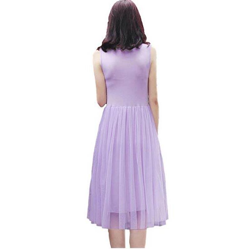 2018 nueva modal empalme OIT Longo vestido mujeres casual mangas ...