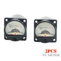 TKDMR 2pcs DIY Panel VU Meter DC AC 6V 12V Warm Back Light Recording Audio Level
