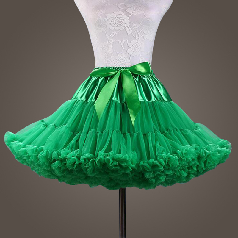 New Puffy Green Color Ball Gown Underskirt Swing Short Dress Petticoat Cosplay Petticoat Ballet Tutu Skirt Rockabilly Crinoline