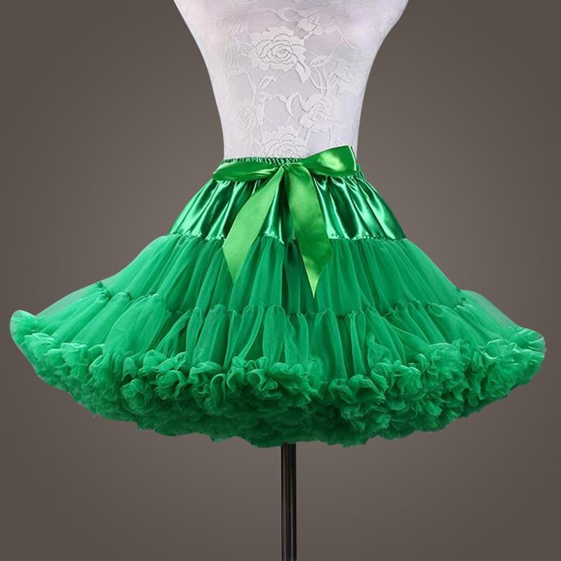 New Puffy Green Color Ball Gown Underskirt Swing Short Dress Petticoat Cosplay Petticoat Ballet Tutu Skirt Rockabilly Crinoline