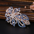 Women's Headwear Bling Beads Flowers Design Hairpin Accessories Big Hair Clip For Women  CZ Crystal Fashion Jewelry Hairgrips