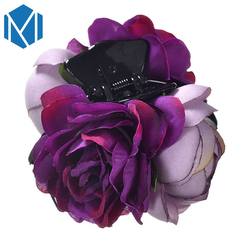 Wedding Party Woman  Flower Barrette Hair Claw Hair Accessories Beautiful Camellia Floral Hair Clips Festival Headwear For Girls