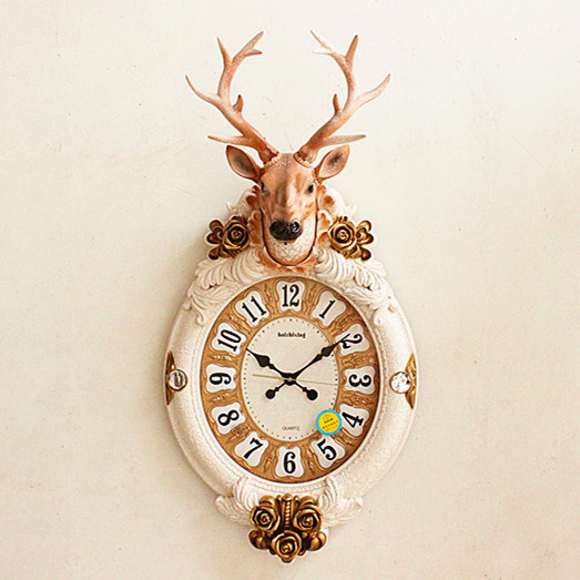 Decoration Art quartz font b watches b font European style round living room quiet bell complex