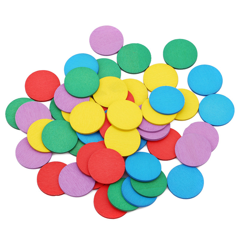 New Figure Arithmetic Baby Math Circular Color Wooden Toys Mathematical Geometry Wood Chip Montessori Educational Toy For Kids