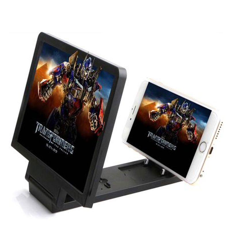 Screen magnif 3D Movie Amplifier 3X Zoom Enlarged Phone Screen 3D Video Amplifier Radiation Eye Treasure To See Films Magnifier