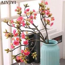 Japanische kirschblüte künstliche blume künstliche pflanzen topf DIY hochzeit garten dekoration flores kirschblüte