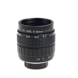 Image 2 - Объектив 50 мм F1.4 CC TV + C образное крепление + макро кольцо + бленда для Sony E образное крепление фотосессия A6300 A6100 A6000 A6500