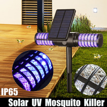 Solar Mosquito Killer Led Light USB Mosquito Repellent IP65 Insect Trap Lamp UV Bug Zapper Pest Control Repeller Wall Light