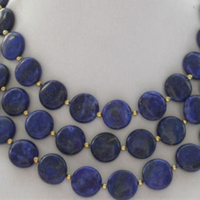 Charming coin blue 12mm lapis lazuli stone natural gems trendy beads diy hot sale necklace jewelry making 50 inch BV346
