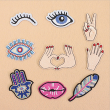 Eyes Hands Mouse Embroidered Patch Applique Cute Patches Fabric Badge Garment DIY Apparel Accessories Badges