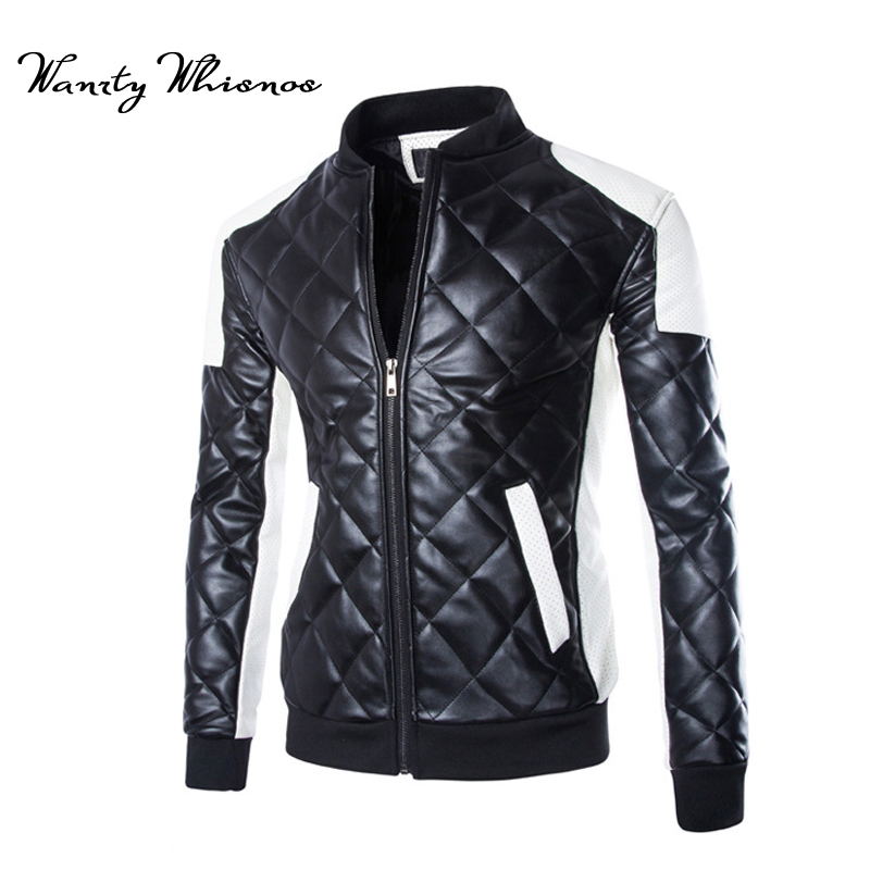 2db8339f6 US $31.63 42% OFF Plus size M 5XL Motorcycle Black leather jacket men  jackets spring 2018 leather coats men's leather clothing white male  jacket-in ...