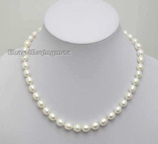 US $5 4 40% OFF|Aliexpress com : Buy SALE small 5 6MM Rice shape WHITE  Natural freshwater PEARL 17