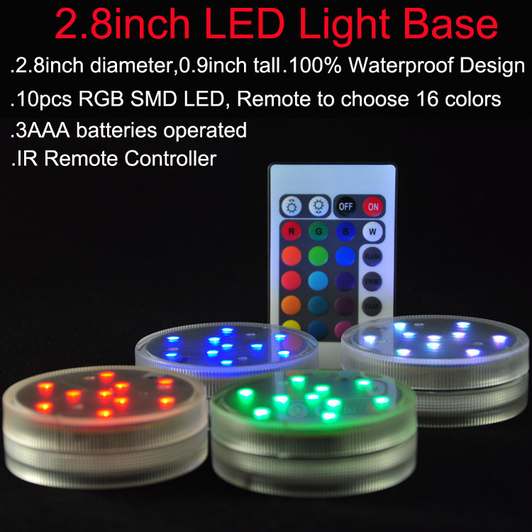 12 pcslot rgb submersible led light multi color waterproof 12 pcslot rgb submersible led light multi color waterproof wedding party vase base floral light 24keys remote controller in novelty lighting from aloadofball Choice Image