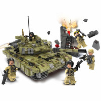 XINGBAO Army Military Russia T90A Army Panzer Tank Building Blocks Bricks Classic Model Kids Toy Gift Marvel Compatible Legoings