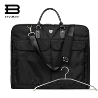 2016 New Waterproof Black Nylon Zipper Garment Bag With Handle Lightweight Suit Bag Durable Business Men