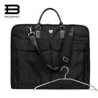 2016 New Waterproof Black Nylon Zipper Garment Bag With Handle Lightweight Suit Bag Durable Business Men