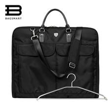 BAGSMART 2016 Wasserdicht Schwarz Nylon Kleidersack Mit Griff Leichte Anzug Durable Geschäftsleute Reisetaschen Für Anzüge