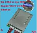 6 S versão D lipo lithium Polymer 120A BMS/PCM/PCB placa de proteção da bateria para 6 Pacotes de 18650 Li-ion Célula de Bateria w/Equilíbrio