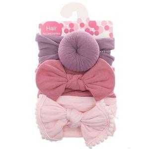 3pcs/Set New Solid Nylon baby headband Bow Headbands For Cute Kids Girls Hair Girls Turban Hairband Children Soft Cotton
