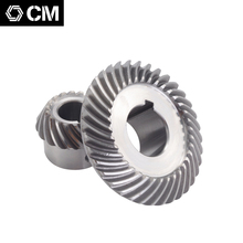 Free shipping Milling machine C77+96 Bevel Gear Spiral gear(18T+36T) Outer diameter:40mm+73mm bevel gear
