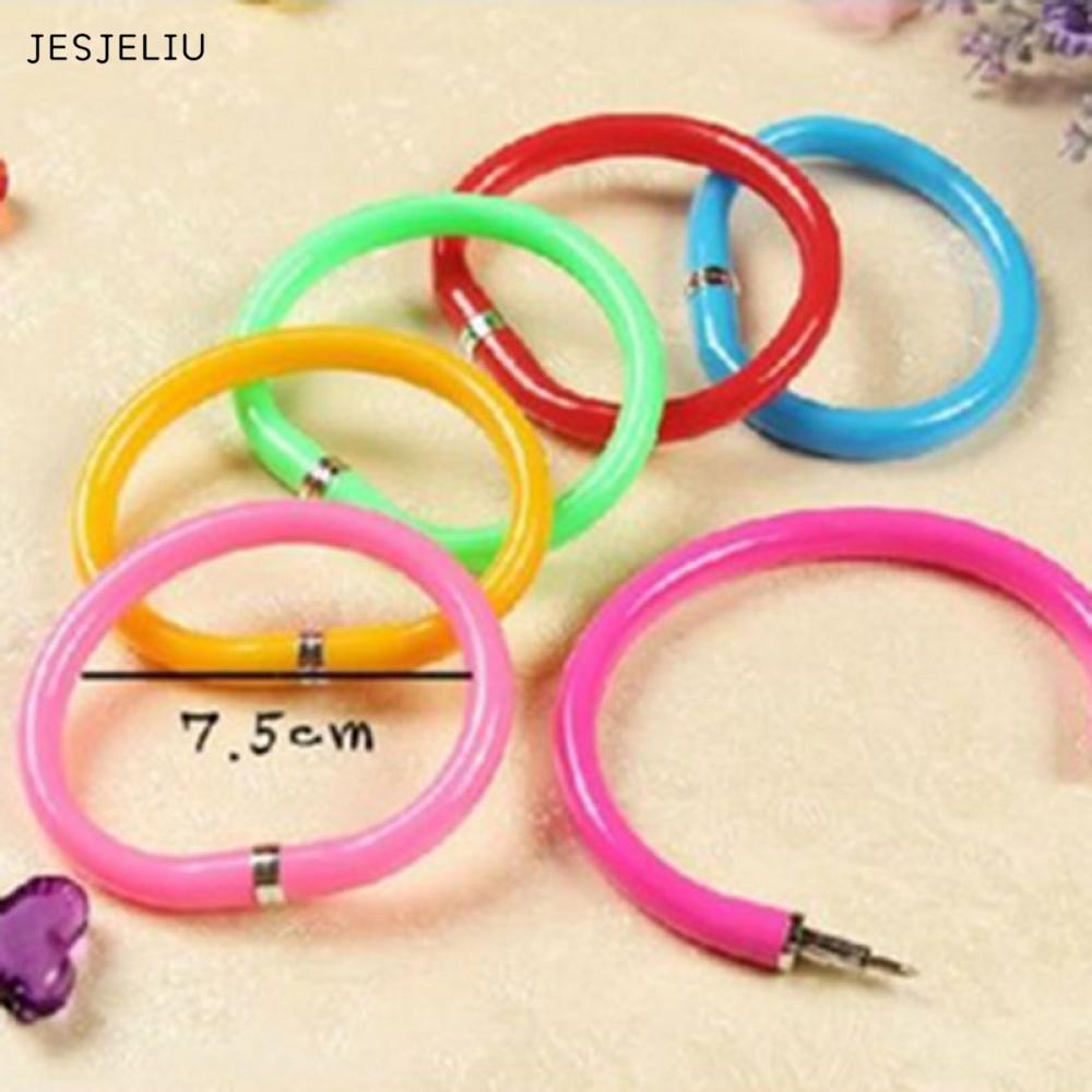 JESJELIU 1PC Plastic Pen Bracelet Cartoon Bracelet Ball-point Pen Stationary Bangle Wristlet Circlet