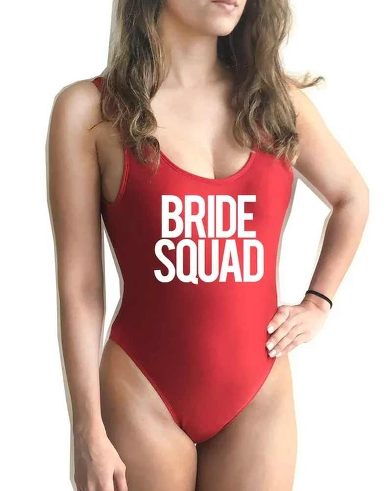 Bachelorette Party Bride Swim Suit Bridesmaid Gift Future Mrs Bride Swimwear Bride Bathing suit Custom Swim Swim Suit Bride Bikini