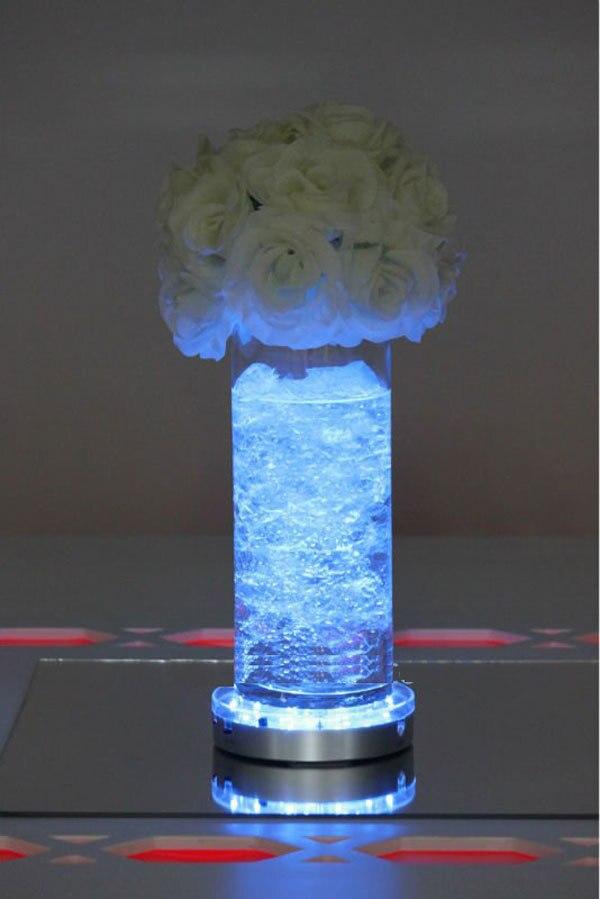 2016 New Arrival Led Vase Light Base 24unitslot 6inch Led Wedding