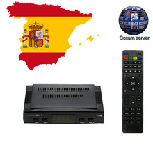 DVB-S2 Freesat V7 Receptor satellite Decoder USB WIFI with cccam cline for 1 year HD 1080p BISS Key Powervu satellite receiver