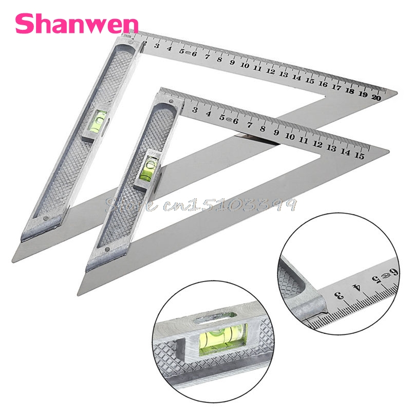 15cm/20cm Triangle Ruler 90 Degree with Bead Horizontal Woodworking Measuring Tool Hot G08 Drop ...