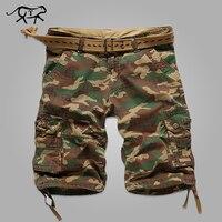 Mens Cargo Shorts Casual Cotton Multi Pocket Summer Man Short Pants Military Big Size Bermuda 2016