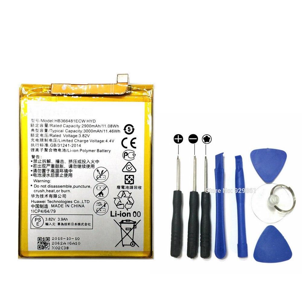 Novo 2019 hb366481ecw honor 7 apro bateria & ferramentas de reparo substituição para huawei honor 7a pro telefone