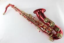 France Selmer STS-54 Red Tenor Saxophone Falling Tune B (C) Gold Lacquer Key Saxophone Mouthpiece
