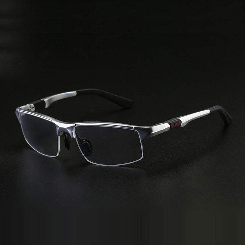 3121 Optical Eyeglasses Frame For Men Eyewear Prescription Glasses Half Rim Man Spectacles Alloy Frame Eyeglasses