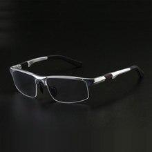 3121 Optical Eyeglasses Frame for Men Eyewear Prescription Glasses Half Rim Man Spectacles Alloy