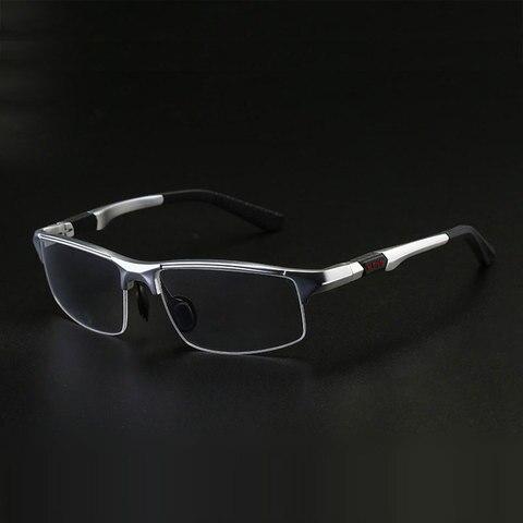 3121 Optical Eyeglasses Frame for Men Eyewear Prescription Glasses Half Rim Man Spectacles Alloy Frame Eyeglasses Pakistan
