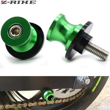 For Kawasaki z750 accessories z 750 2004 2005 2006 2007-2016 Motorcycle CNC Swingarm Sliders Spools logo 6mm 8mm 10mm